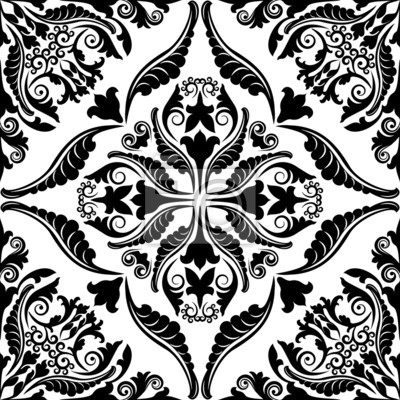 Bild seamless pattern with baroque ornaments