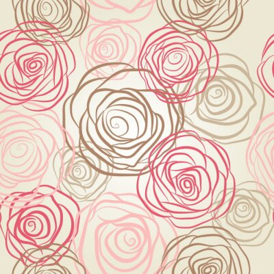 Bild Seamless pattern with flowers roses vector