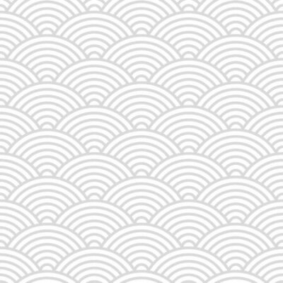 Bild Seamless pattern with Japanese style gray and white circles ornate for your design