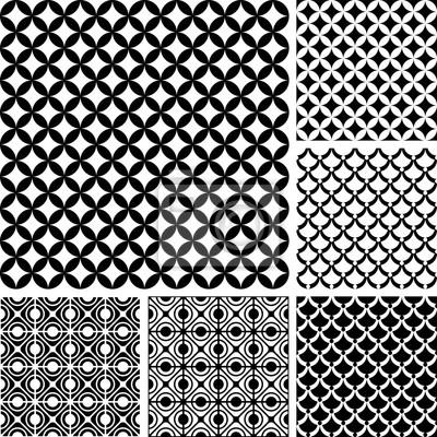 Seamless patterns set. Geometric textures.