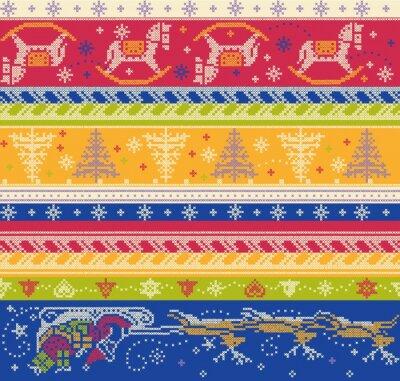 Bild seamless vector knitted pattern