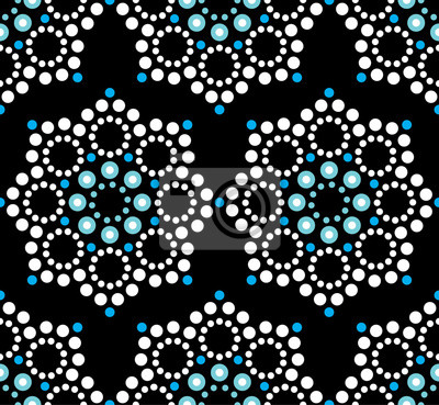 Seamless Vector Pattern Aboriginal Dot Painting Mandala Repetitive