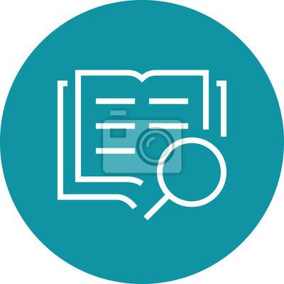 Bild Search Book Research Outline Icon