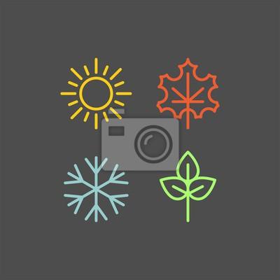 Bild Seasons flat vector icons