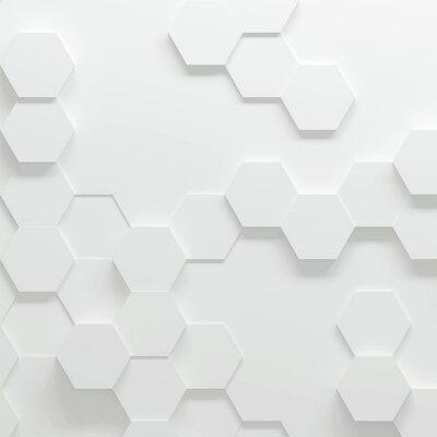 Sechseckige parametrische muster, 3d abbildung leinwandbilder ...