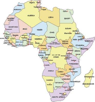 Bild Sehr detaillierte Afrika politische Karte.