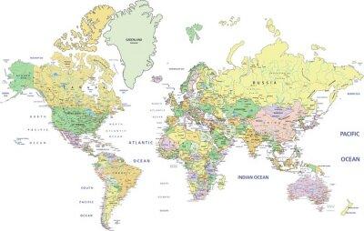 Bild Sehr detaillierte politische Weltkarte mit Kennzeichnung.