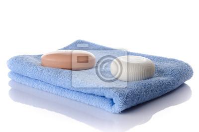 Bild Seifen auf einem Handtuch