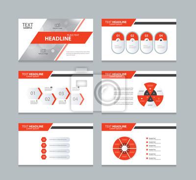 Seite präsentation layout-design-vorlage mit info-grafik-element ...
