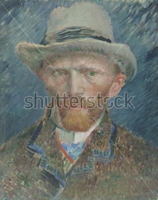 Bild Selbstbildnis, von Vincent van Gogh, 1887, niederländisches Ölgemälde. Er porträtierte sich hier als modisch gekleideter Pariser
