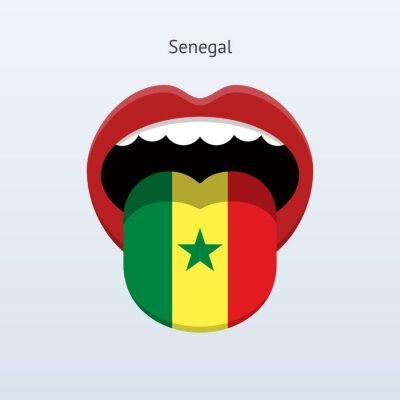 Senegal Sprache. Abstrakt menschliche Zunge.