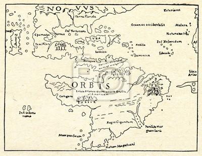 Amerika Karte Schwarz Weiß.Bild Separate Frühesten Karte Von Amerika Sebastian Münster 1540