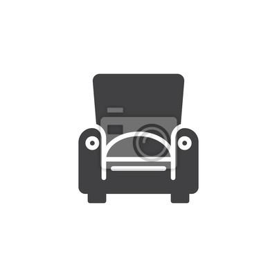 Sessel haushalt möbel symbol vektor, gefüllte flache zeichen ...
