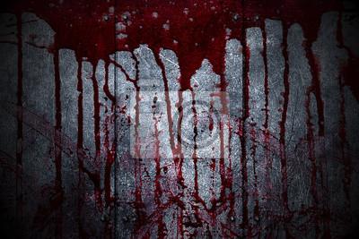 Bild Set 8. blutige Metall-Wand in der Dunkelheit