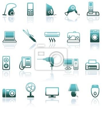 Set Icons von Haushaltsgeräten