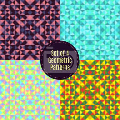 Set mit 4 geometrischen abstrakten Hintergründe