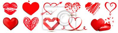Bild Set mit Herz Motiven