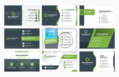 Bild Set moderne Visitenkarte Druckvorlagen. Persönliche Visitenkarte mit Firmenlogo. Abbildung. Schreib eine Bewertung!