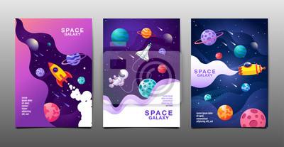 Bild set of banner templates. universe. space. space galaxy, design. vector illustration