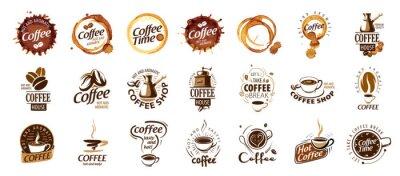 Bild Set of coffee logos. Vector illustration on white background