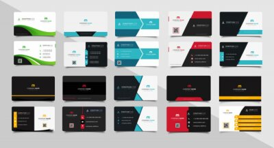 Bild Set of corporate business card bundle.