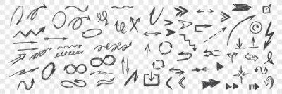 Bild Set of hand drawn black arrows