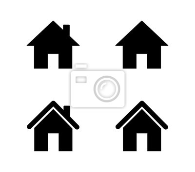Bild set of home icons isolated on white background. vector illustration.