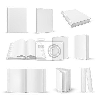 Bild Set of isolated opened and closed realistic book