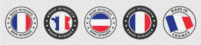 Bild set of made in the france labels, made in the france logo,  france flag , france product emblem, Vector illustration.