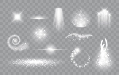 Bild Set of magic light effects. Magical sparks, stars and particles. Vector illustration