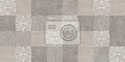 Bild set of seamless patchwork patterns and background of tiles