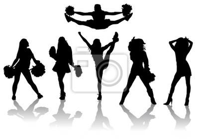 Set siluetas Cheerleaders