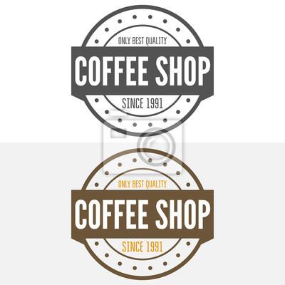 Set vintage etiketten, embleme und logo-vorlagen für kaffee ...