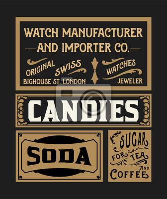 Bild Set von alten Werbe-Designs und Etiketten