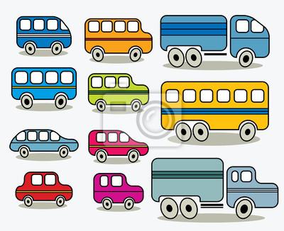 Set von Autos-Icons, Vektor.