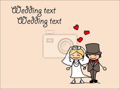 Set Von Comic Figuren Hochzeit Leinwandbilder Bilder Voile