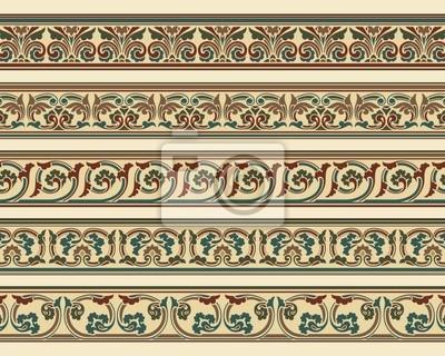 Bild Set von fünf Bordüren in bearbeitbare Vektorgrafiken Datei
