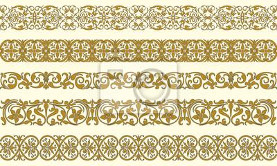 Bild Set von fünf dekorativen Grenzen