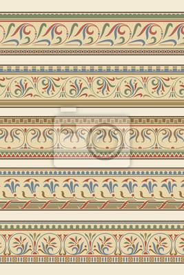 Bild Set von fünf Zierleisten Zier