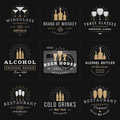 Set von hipster vintage labels, logos, abzeichen für ihr unternehmen ...