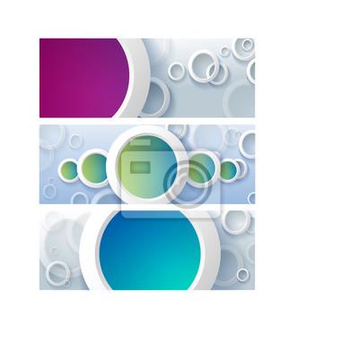 Hintergrund Designs | Set Von Horizontalen Banner Cover Hintergrund Designs Farben