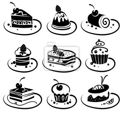 Set von Kuchen