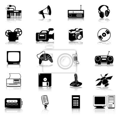 Set von Symbolen der elektronischen