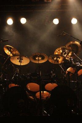 Bild Set von Trommeln auf der Bühne