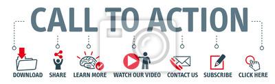 Bild Set von Vektor-Icons - Aufruf zum Handeln