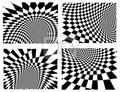 Set von vier abstrakte Vektor Hintergründe