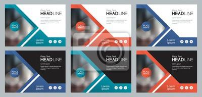 Bild Set Vorlage Design für Social Media und Web-Banner Hintergrund, mit Verwendung in Präsentation, Broschüre, Buchdeckel Layout, Flyer