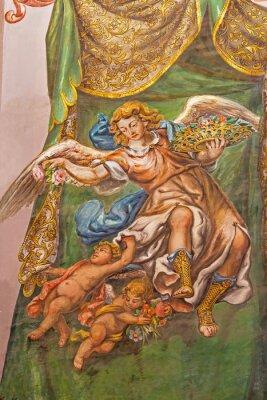 Bild Seville - fresco of angel with the roses