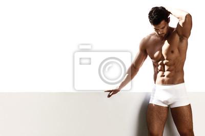 Bild Sexy Porträt male model in Unterwäsche