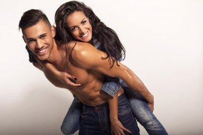 Bild sexy schöne Paar in Jeans